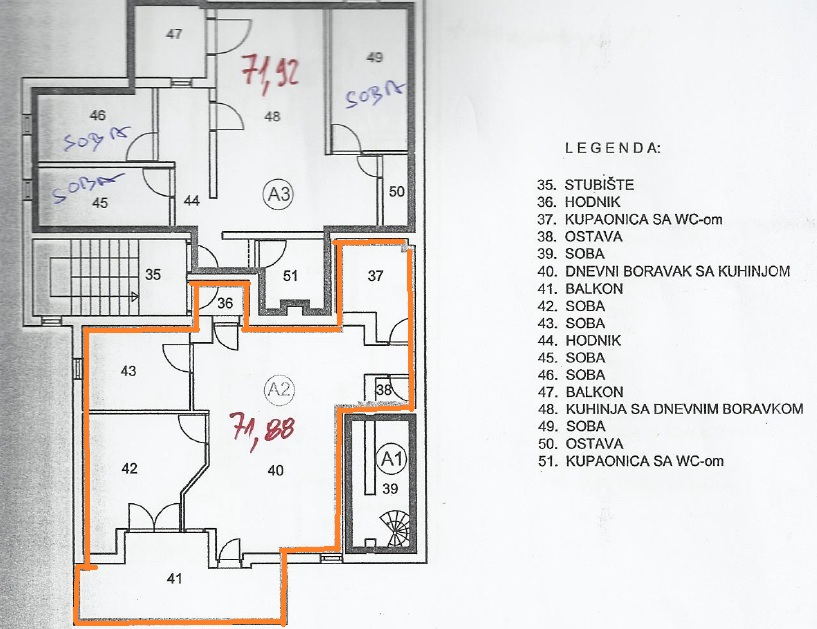 PRODAJA STANA U VELIKOJ MLACI, 71,92 m2